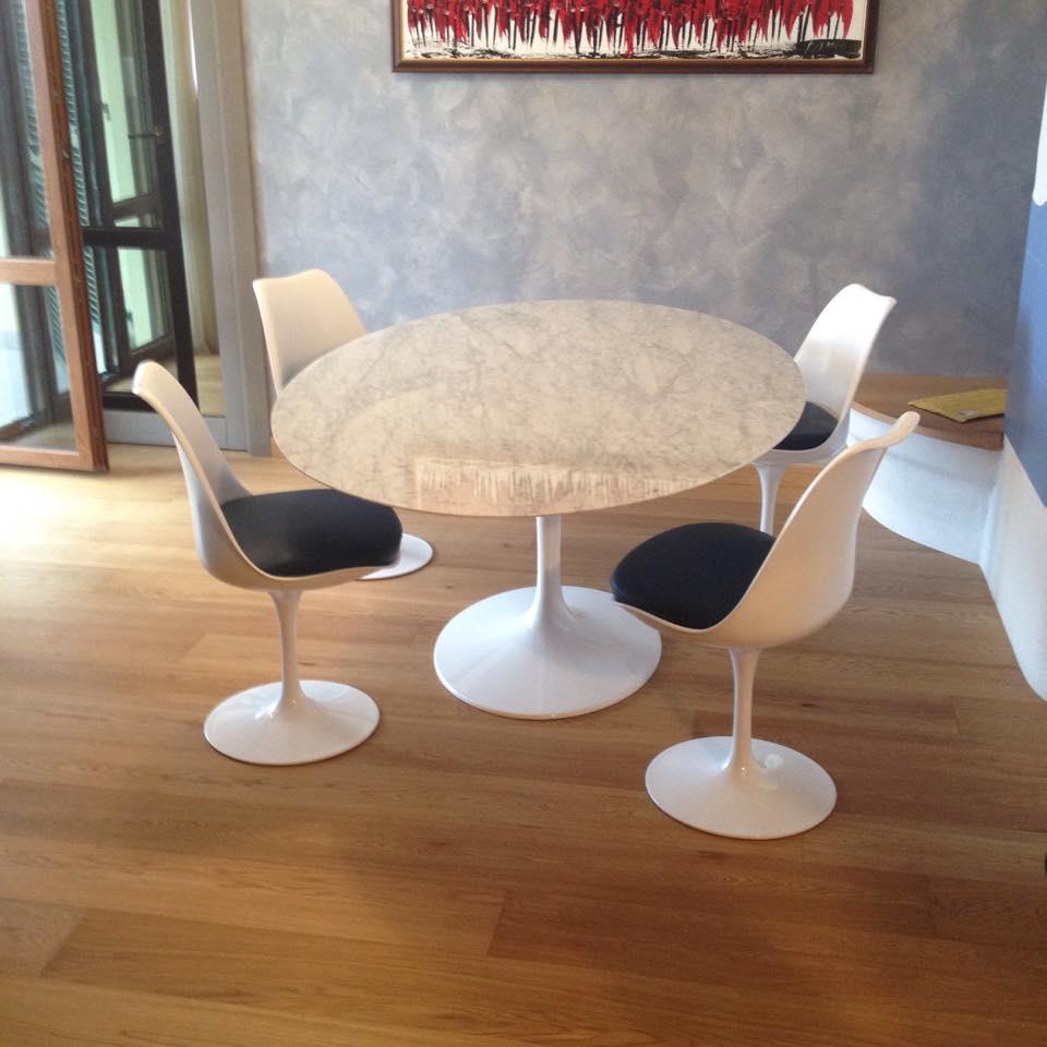 Tavolo tulip saarinen piano marmo carrara instant design - Tavolo tulip ovale marmo ...