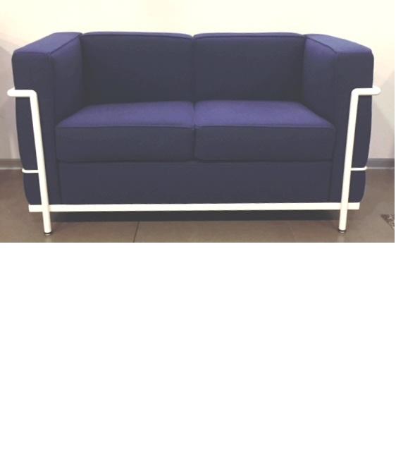 divano due posti da cm 130 in lana blu instant design