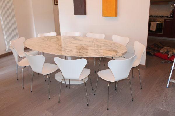 Sedie Da Abbinare A Tavolo In Legno.Quale Sedia Abbinare Al Tavolo Tulip Instant Design