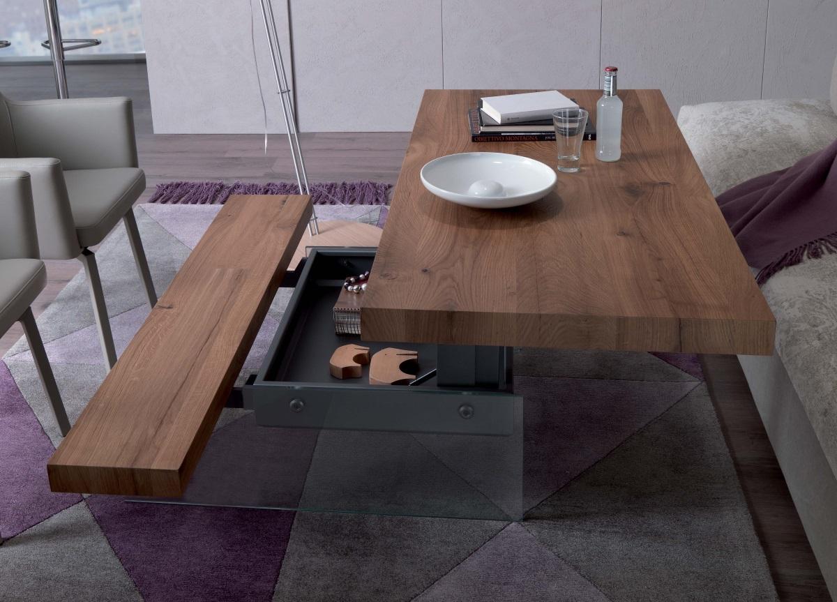 Tavolino Trasformabile Ozzio Design.Tavolino Markus Con Panca Integrata Ozzio Design Instant Design