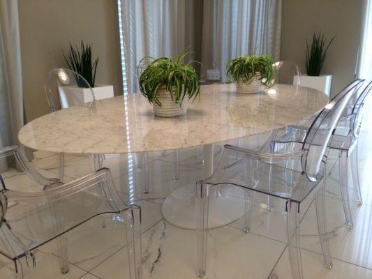 Tavolo Saarinen Misure : Tavolo tulip saarinen piano marmo carrara instant design