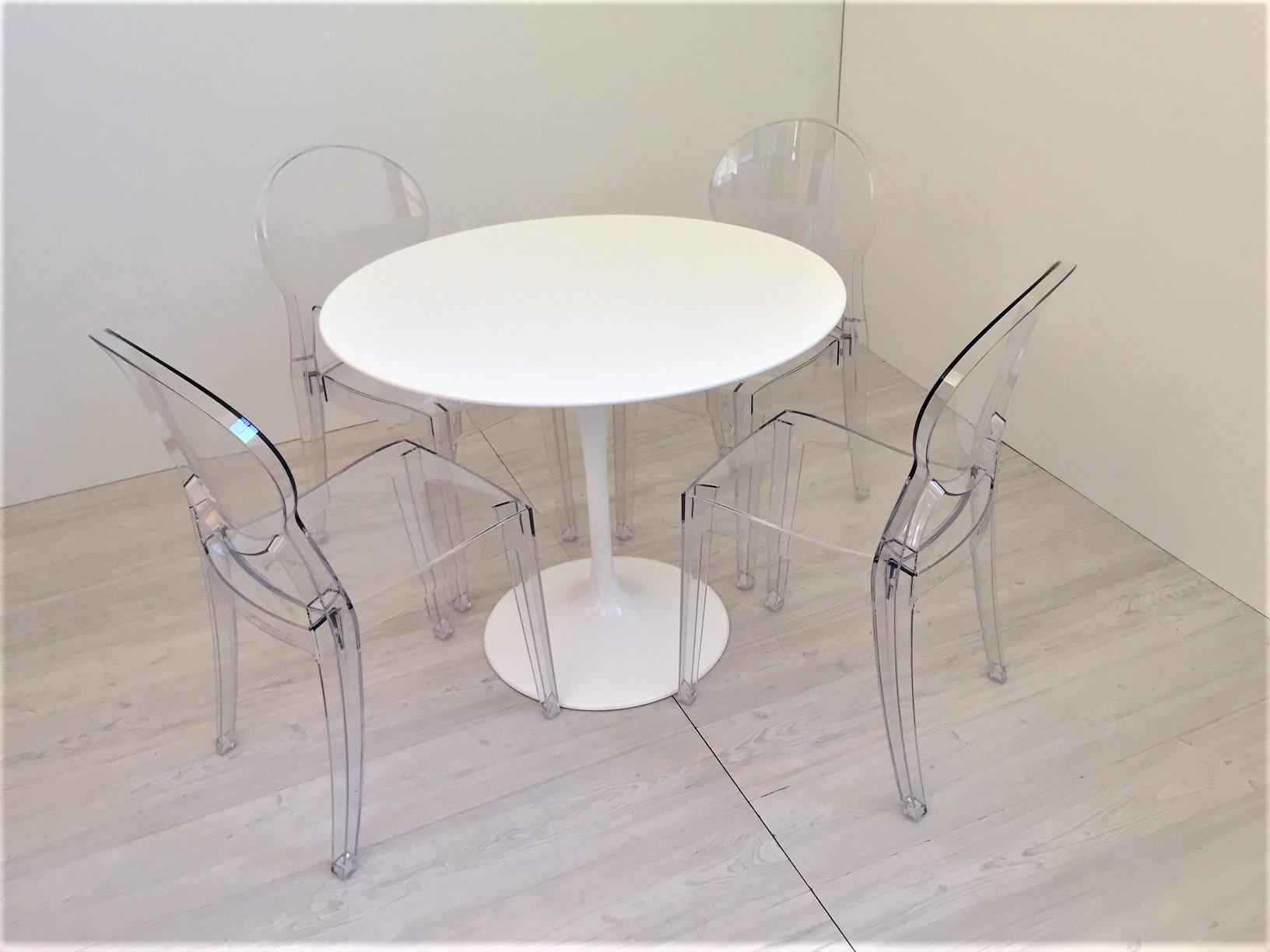 Tavolo E Sedie Trasparenti.Set Di 4 Sedie Igloo In Policarbonato Trasparente Instant Design